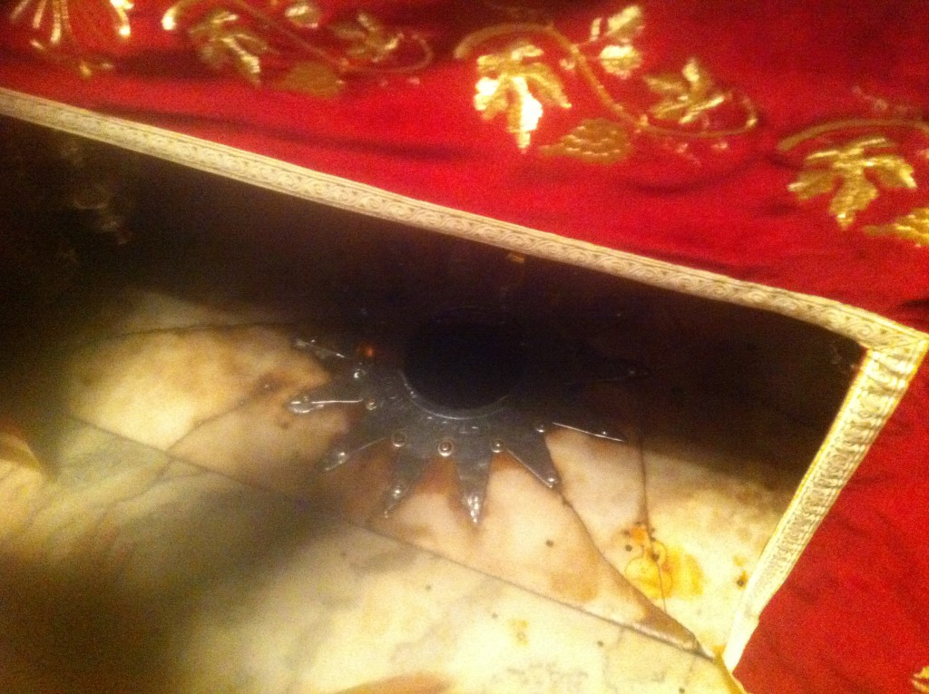 Stjernen i gulvet markerer hvor Jesus skal ha blitt født.