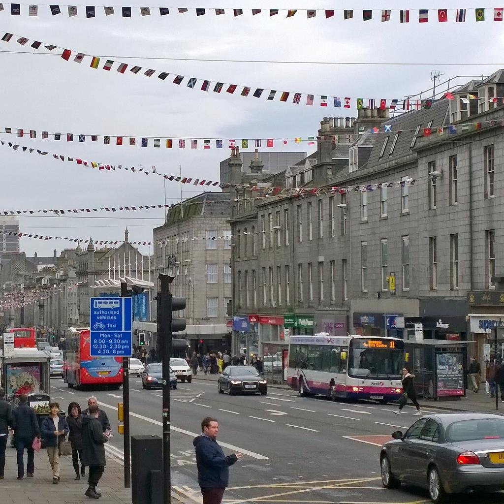 Union Street i Aberdeen Skottland