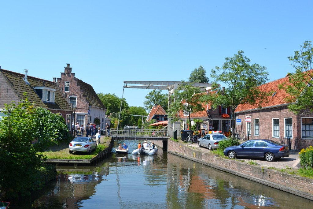 Midt i byen Edam Nederland Holland