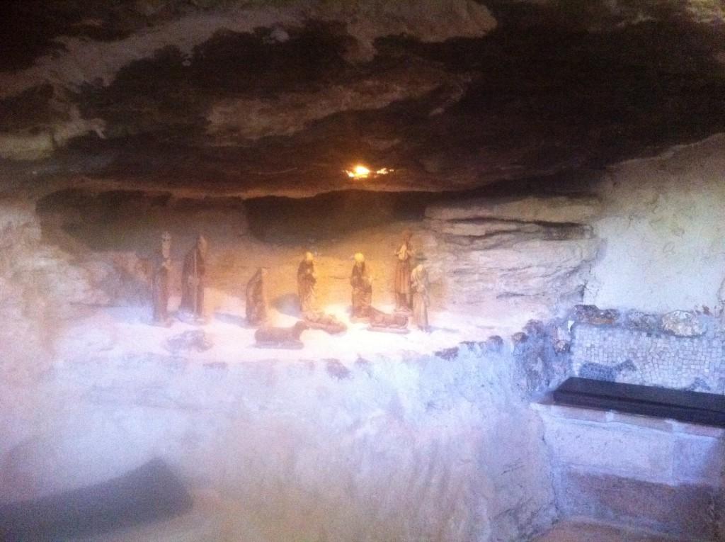Dette er grotten hvor en tror Jesus ble født