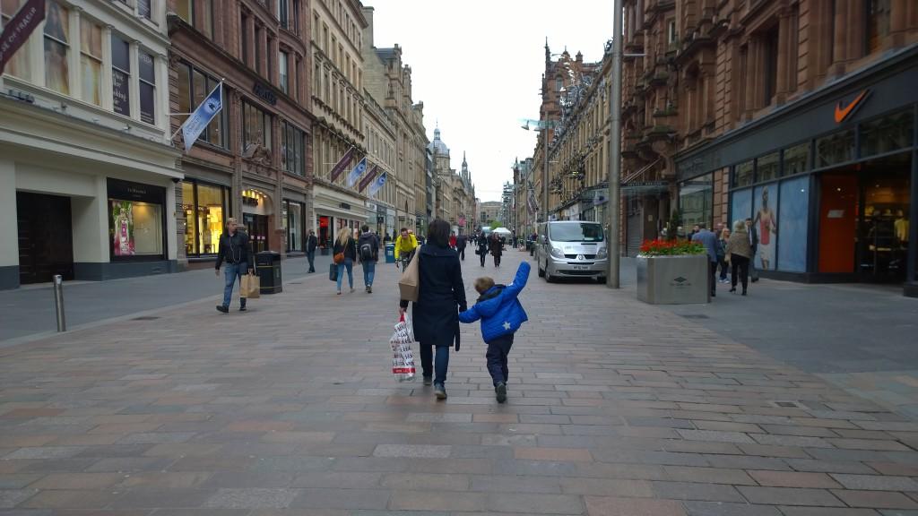 Buchanan Street Glasgow Skottland