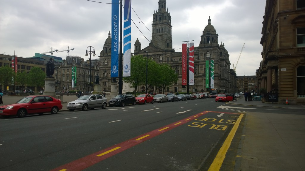 Downtown Glasgow Skottland