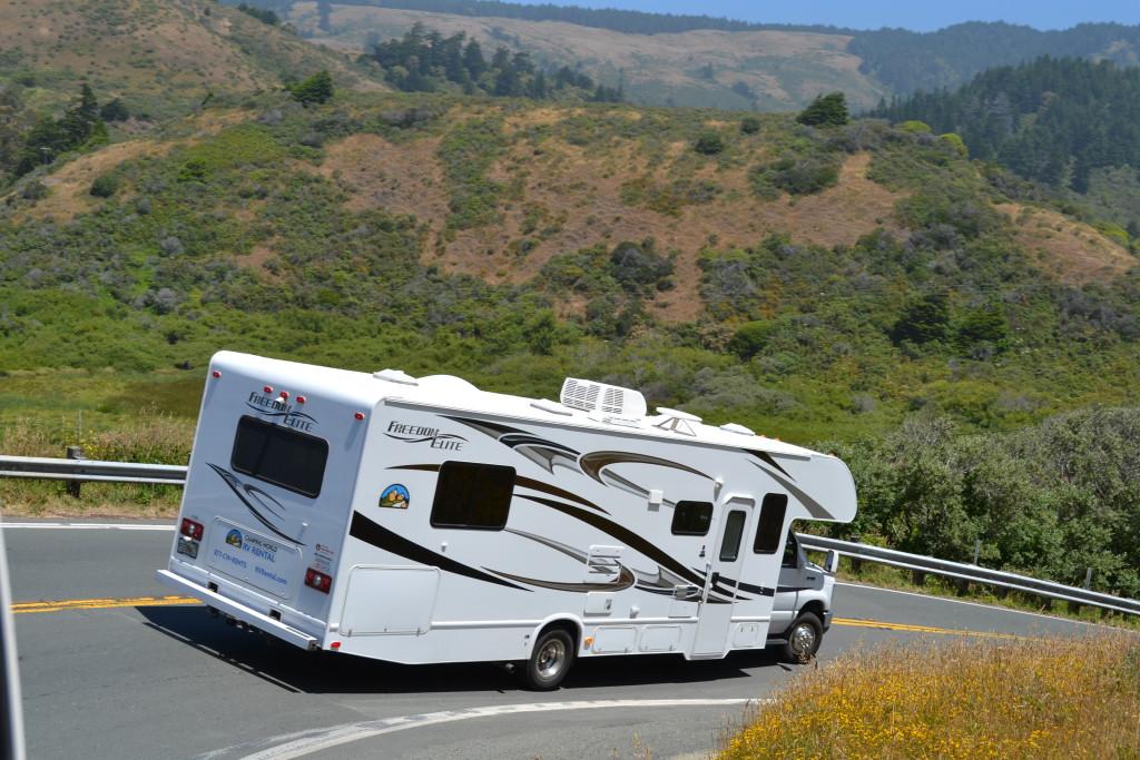 Reisetips for familier, barn og voksne - US101 USA California med bobil av merket Thor, leid fra Camping World i Seattle