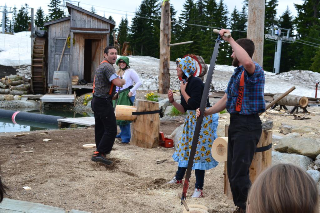 Lumberjack Grouse Mountain Canada reisetips Vancouver