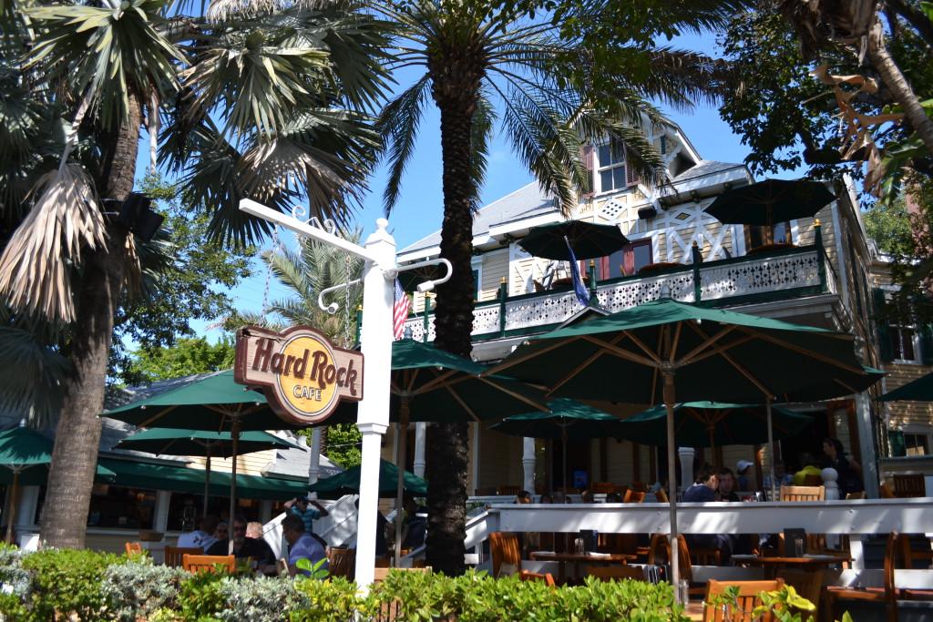 Reisetips for familier, barn og voksne - Herlig sted å sitte ute, Hard Rock Key West, Florida, USA