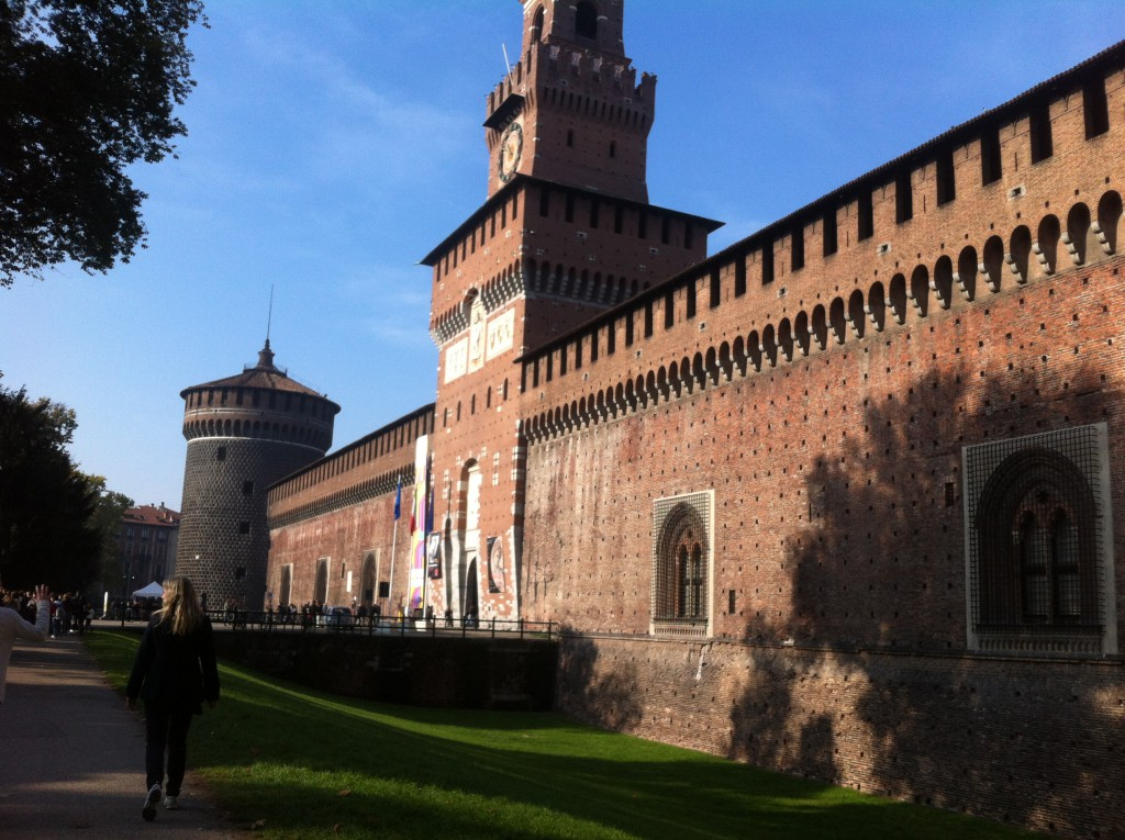 Sforza-slottet Milano Italia reisetips helgetur