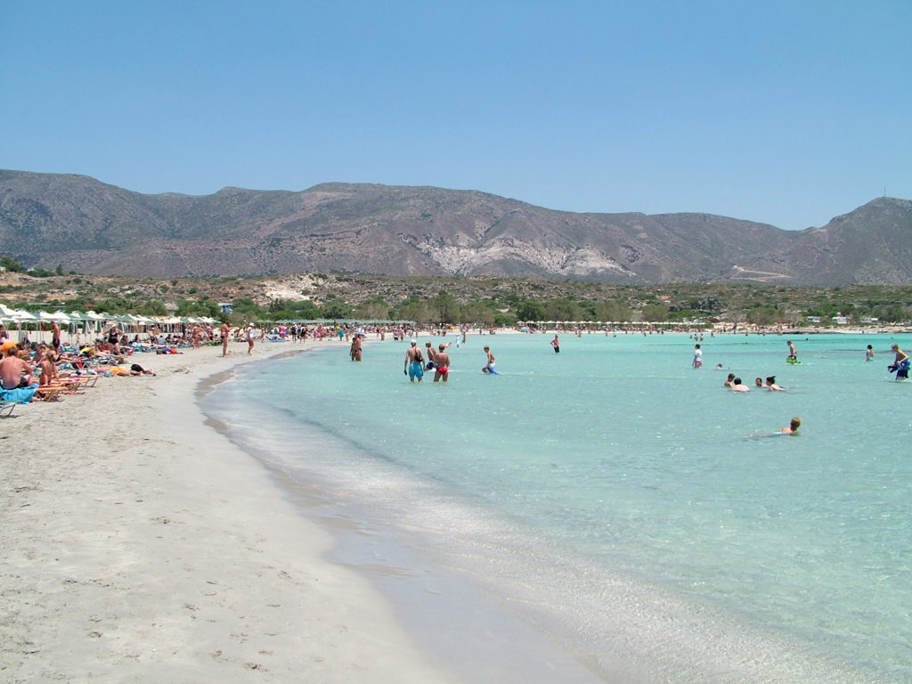 Reisetips, Hellas, Chania, Strand, Elafonissi, barnevennlig