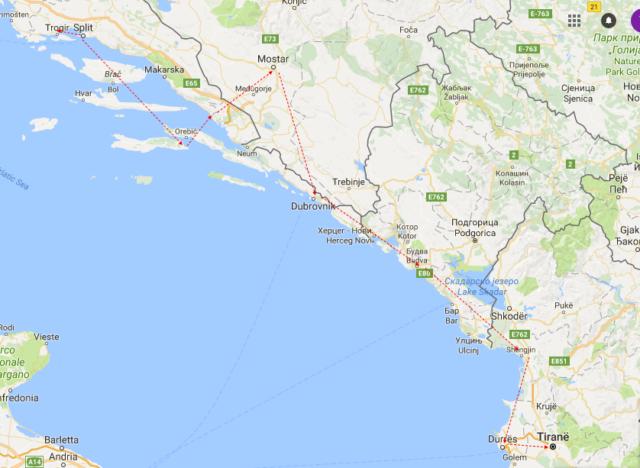 Reisetips for barnefamilier, ungdommer, voksne, alle. Kroatsia, Bosnia-Hercegovina, Montenegro og Albania. Strender, bading, shopping, mat, restauranter. Reisetips for alle.
